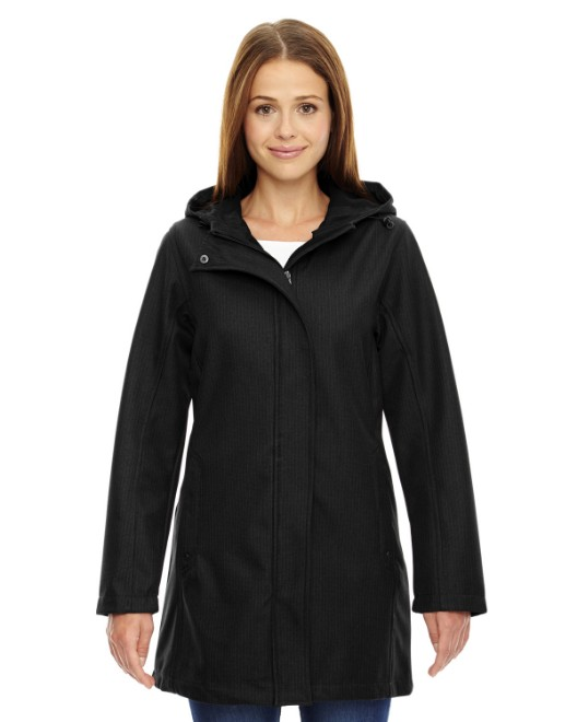 Picture of Ash City - North End 78171 Womens City Textured Three-Layer Fleece Bonded Soft Shell Jacket