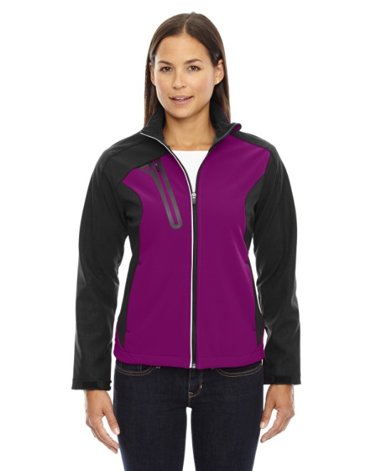 Picture of Ash City - North End 78176 Womens Terrain Colorblock Soft Shell with Embossed Print
