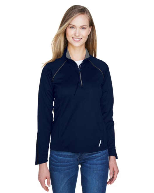 Picture of Ash City - North End 78187 Womens Radar Quarter-Zip Performance Long-Sleeve Top