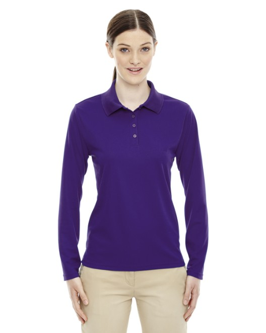 Picture of Ash City - Core 365 78192 Womens Pinnacle Performance Long-Sleeve Pique Polo