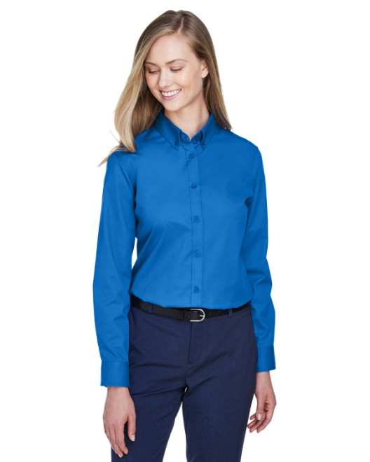 Picture of Ash City - Core 365 78193 Womens Operate Long-Sleeve Twill Shirt