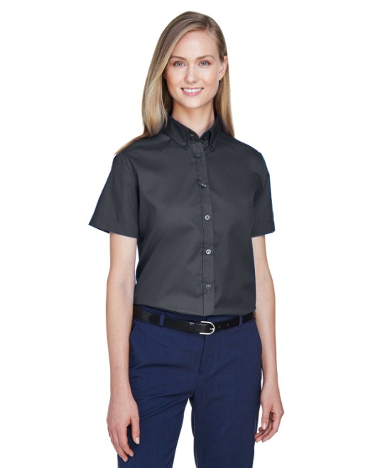 Picture of Ash City - Core 365 78194 Womens Optimum Short-Sleeve Twill Shirt