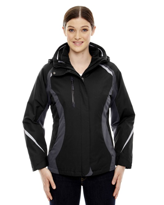 Picture of Ash City - North End 78195 Womens Height 3-in-1 Jacket with Insulated Liner