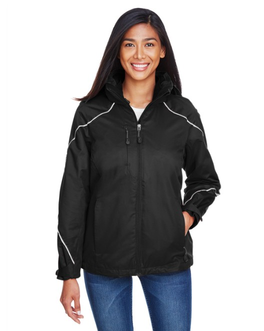 Picture of Ash City - North End 78196 Womens Angle 3-in-1 Jacket with Bonded Fleece Liner