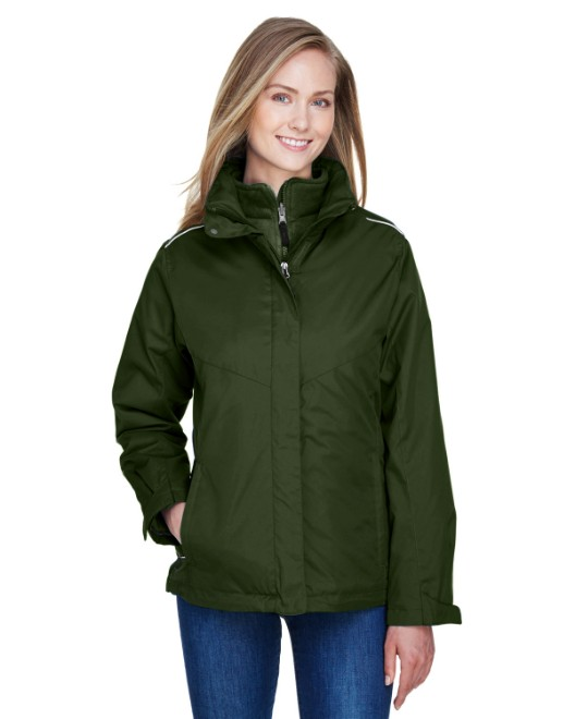 Picture of Ash City - Core 365 78205 Womens Region 3-in-1 Jacket with Fleece Liner