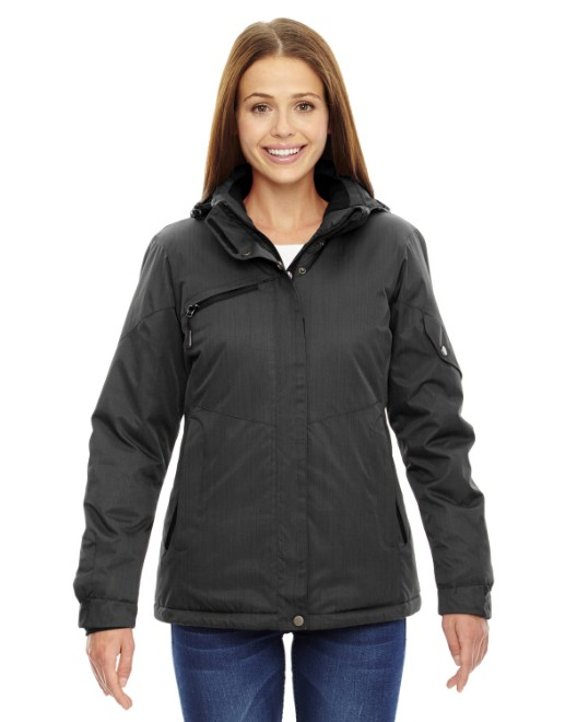 Picture of Ash City - North End 78209 Ladies' Rivet Textured Twill Insulated Jacket