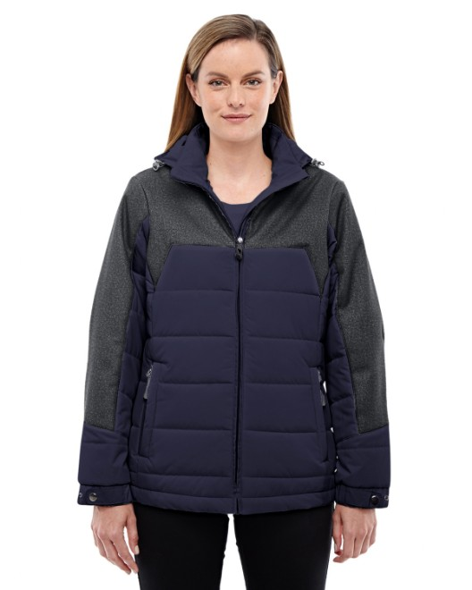 Picture of Ash City - North End 78232 Womens Excursion Meridian Insulated Jacket with Melange Print