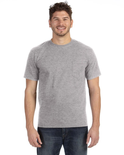 Picture of Anvil 783AN Adult Midweight Pocket T-Shirt