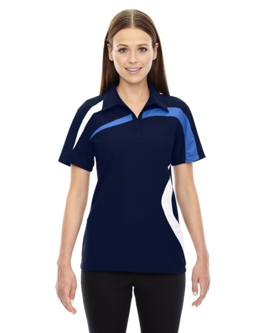 Picture of Ash City - North End 78645 Womens Impact Performance Polyester Pique Colorblock Polo