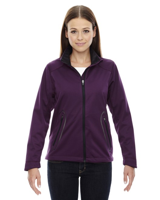 Picture of Ash City - North End 78655 Womens Splice Three-Layer Light Bonded Soft Shell Jacket with Laser Welding