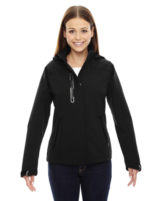 Picture of Ash City - North End 78665 Womens Axis Soft Shell Jacket with Print Graphic Accents