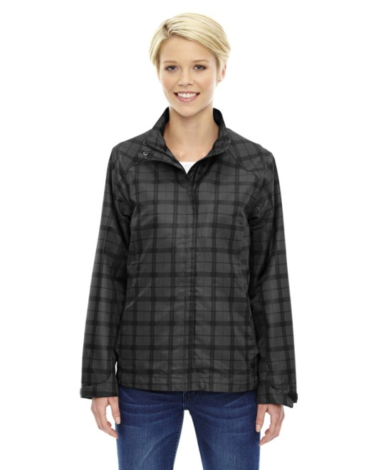 Picture of Ash City - North End 78671 Womens Locale Lightweight City Plaid Jacket