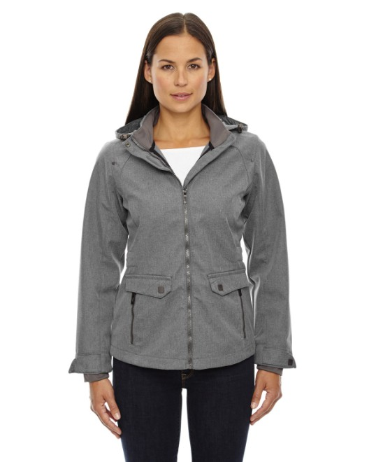 Picture of Ash City - North End 78672 Womens Uptown Three-Layer Light Bonded City Textured Soft Shell Jacket