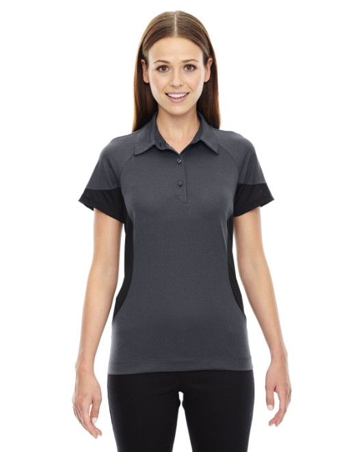 Picture of Ash City - North End 78677 Womens Refresh UTK cool?logik Coffee Performance Melange Jersey Polo