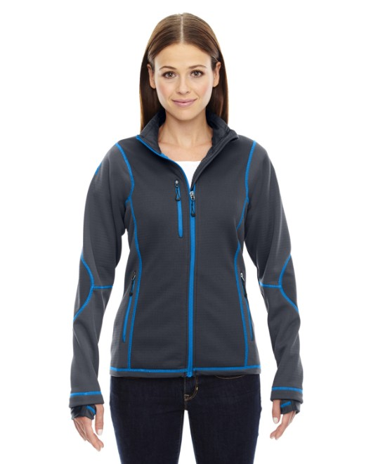 Picture of Ash City - North End 78681 Womens Pulse Textured Bonded Fleece Jacket with Print