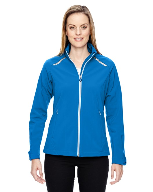 Picture of Ash City - North End 78693 Womens Excursion Soft Shell Jacket with Laser Stitch Accents