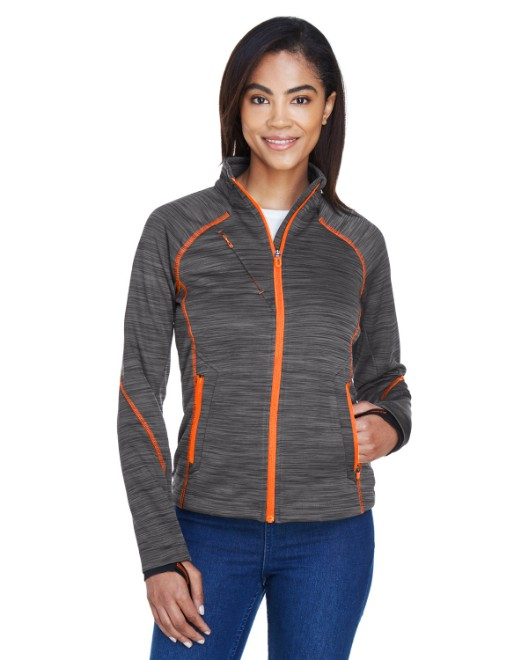 Picture of Ash City - North End 78697 Womens Flux Melange Bonded Fleece Jacket