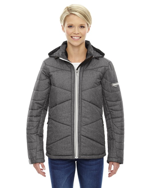 Picture of Ash City - North End 78698 Womens Avant Tech Melange Insulated Jacket with Heat Reflect Technology