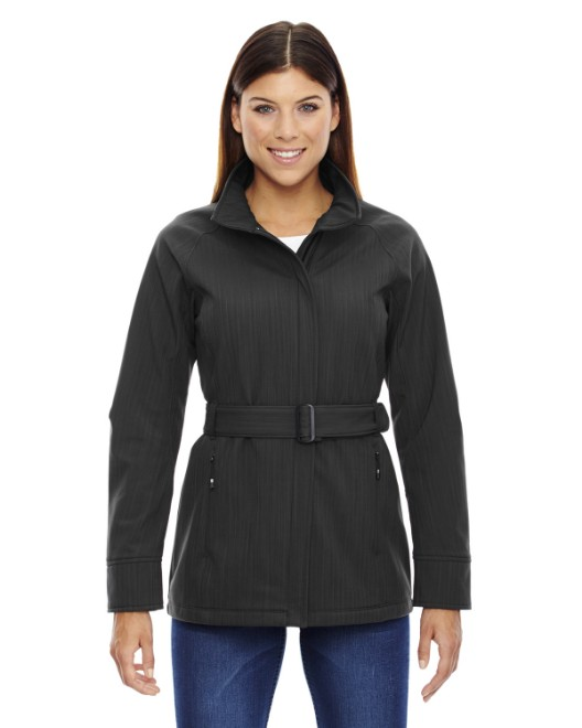 Picture of Ash City - North End 78801 Womens Skyscape Three-Layer Textured Two-Tone Soft Shell Jacket
