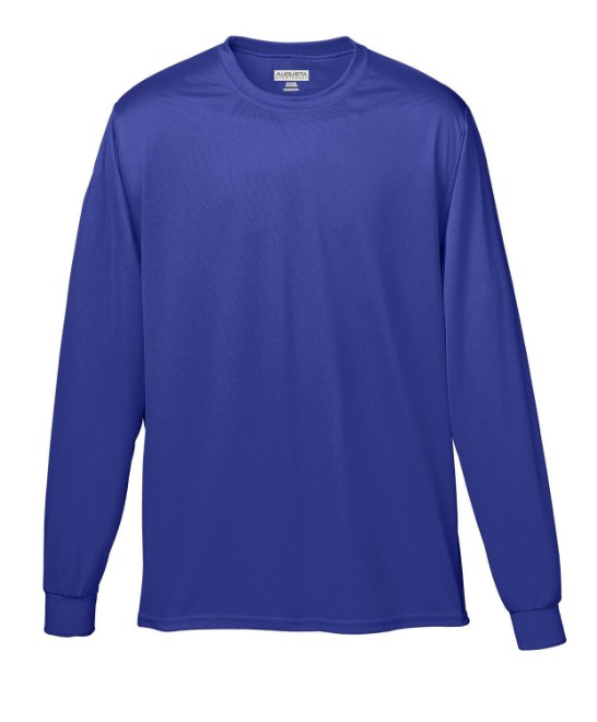 Picture of Augusta Sportswear 788 Adult Wicking Long-Sleeve T-Shirt