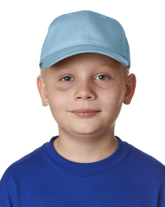 Picture of UltraClub 8122 Youth Classic Cut Cotton Twill 6-Panel Cap