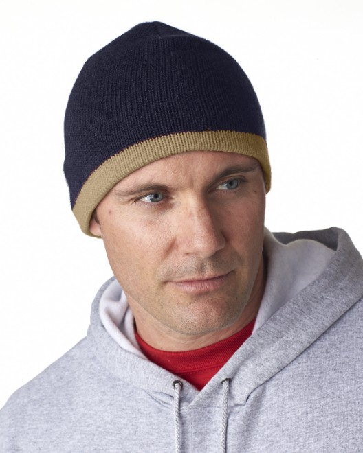 Picture of UltraClub 8132 Adult Two-Tone Knit Beanie