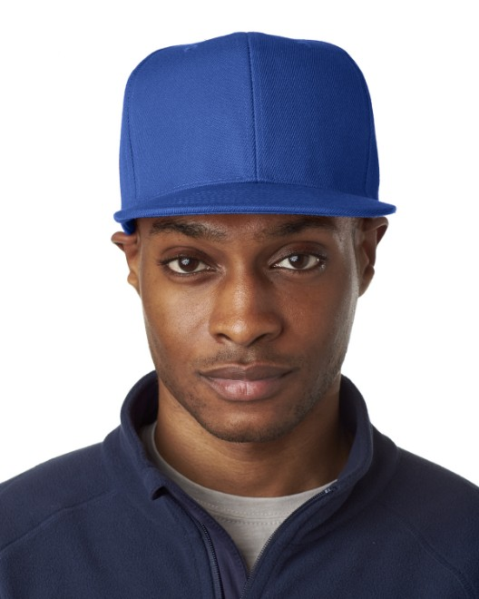 Picture of UltraClub 8160 Adult Flat Bill Cap