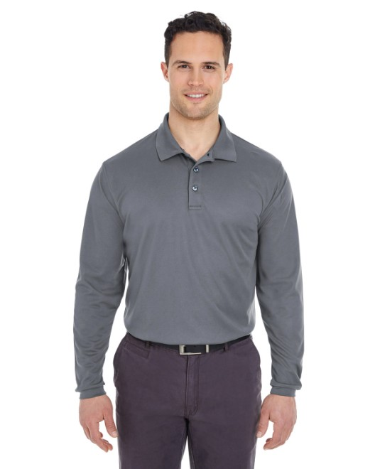 Picture of UltraClub 8210LS Adult Cool & Dry Long-Sleeve Mesh Pique Polo
