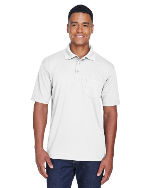 Picture of UltraClub 8210P Adult Cool & Dry Mesh Pique Polo with Pocket