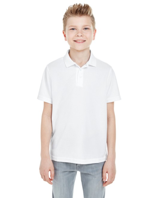 Picture of UltraClub 8210Y Youth Cool & Dry Mesh Pique Polo