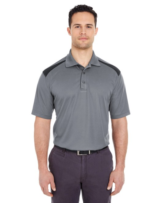 Picture of UltraClub 8215 Adult Cool & Dry Two-Tone Mesh Pique Polo