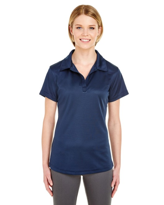 Picture of UltraClub 8220L Womens Cool & Dry Jacquard Stripe Polo