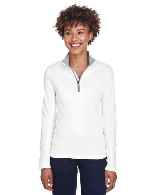 Picture of UltraClub 8230L Ladies' Cool & Dry Sport Quarter-Zip Pullover
