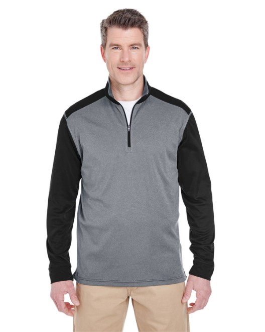 Picture of UltraClub 8232 Adult Cool & Dry Sport Two-Tone Quarter-Zip Pullover
