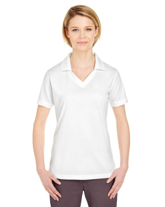 Picture of UltraClub 8320L Womens Platinum Performance Jacquard Polo with TempControl Technology
