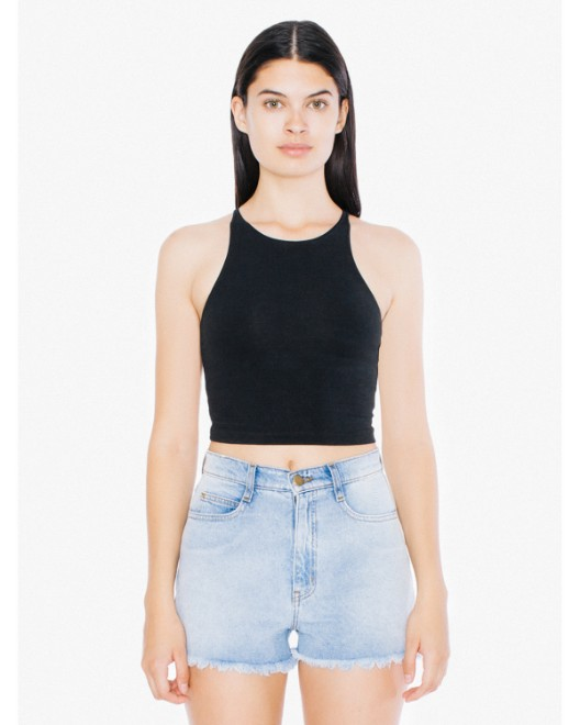 Picture of American Apparel 8369W Womens Cotton Spandex Sleeveless Crop Top