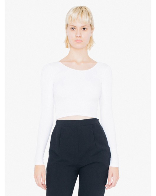 Picture of American Apparel 8379W Womens Cotton Spandex Long Sleeve Crop Top
