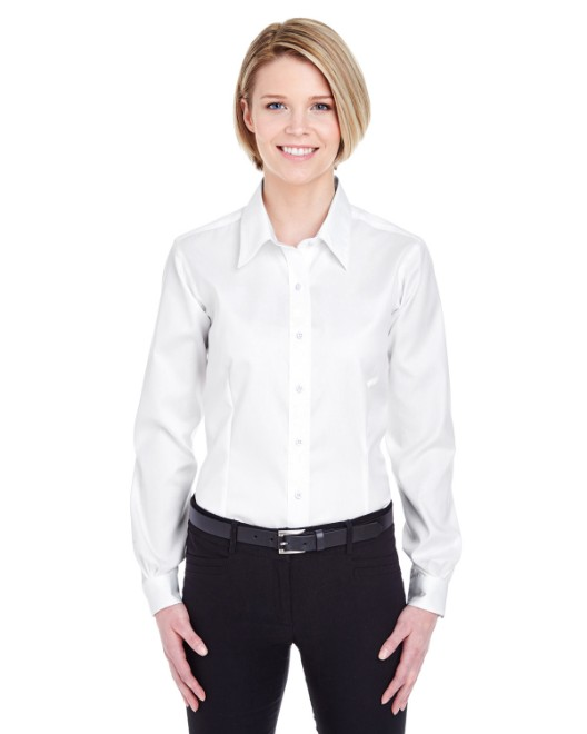 Picture of UltraClub 8381 Womens Non-Iron Pinpoint