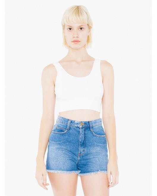 Picture of American Apparel 8384W Womens Cotton Spandex Crop Tank