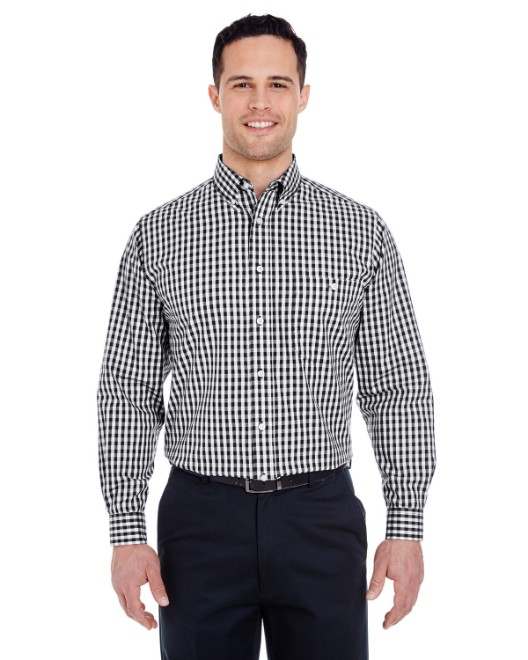 Picture of UltraClub 8385 Men's Medium-Check Woven
