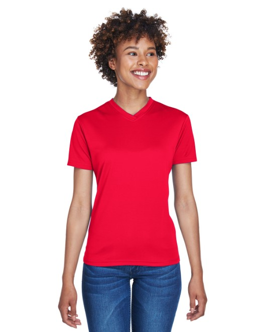 Picture of UltraClub 8400L Womens Cool & Dry Sport V-Neck T-Shirt