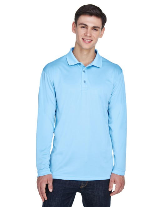 Picture of UltraClub 8405LS Adult Cool & Dry Sport Long-Sleeve Polo