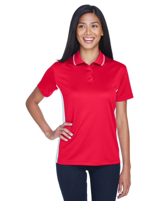 Picture of UltraClub 8406L Womens Cool & Dry Sport Two-Tone Polo