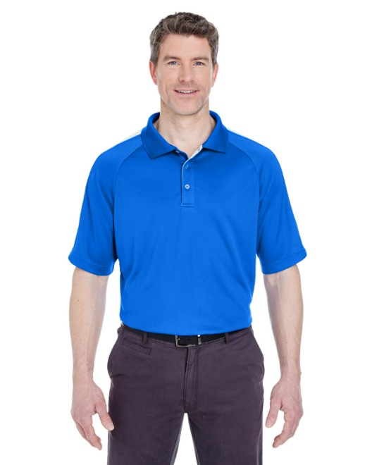 Picture of UltraClub 8409 Adult Cool & Dry Sport Shoulder Block Polo