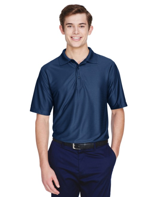 Picture of UltraClub 8413 Men's Cool & Dry Elite Tonal Stripe Performance Polo
