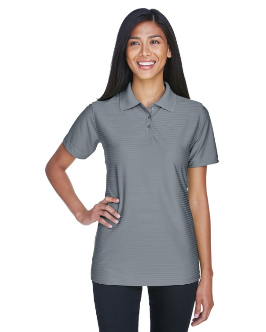 Picture of UltraClub 8413L Womens Cool & Dry Elite Tonal Stripe Performance Polo