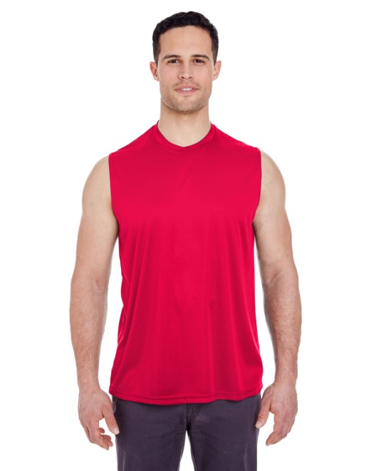 Picture of UltraClub 8419 Adult Cool & Dry Sport Performance Interlock Sleeveless T-Shirt