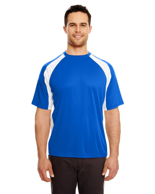 Picture of UltraClub 8421 Adult Cool & Dry Sport Two-Tone Performance Interlock T-Shirt