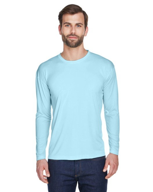 Picture of UltraClub 8422 Adult Cool & Dry Sport Long-Sleeve Performance Interlock T-Shirt