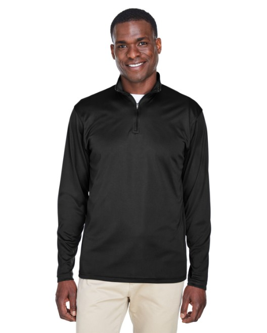 Picture of UltraClub 8424 Men's Cool & Dry Sport Performance Interlock Quarter-Zip Pullover